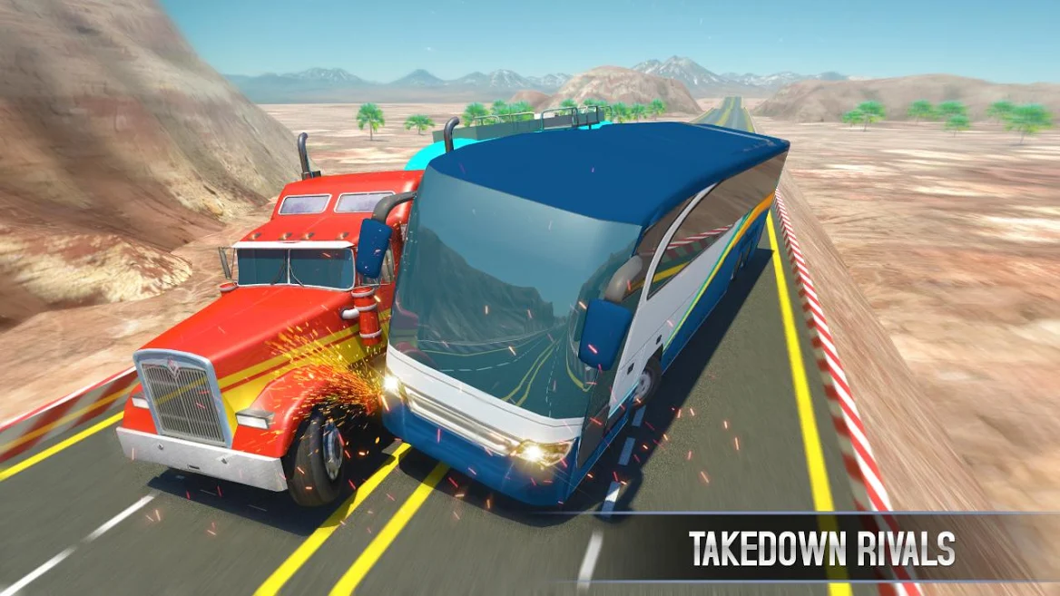 Bus Racing Vs Truck Racing Game Heavy Vehicle Racing Game