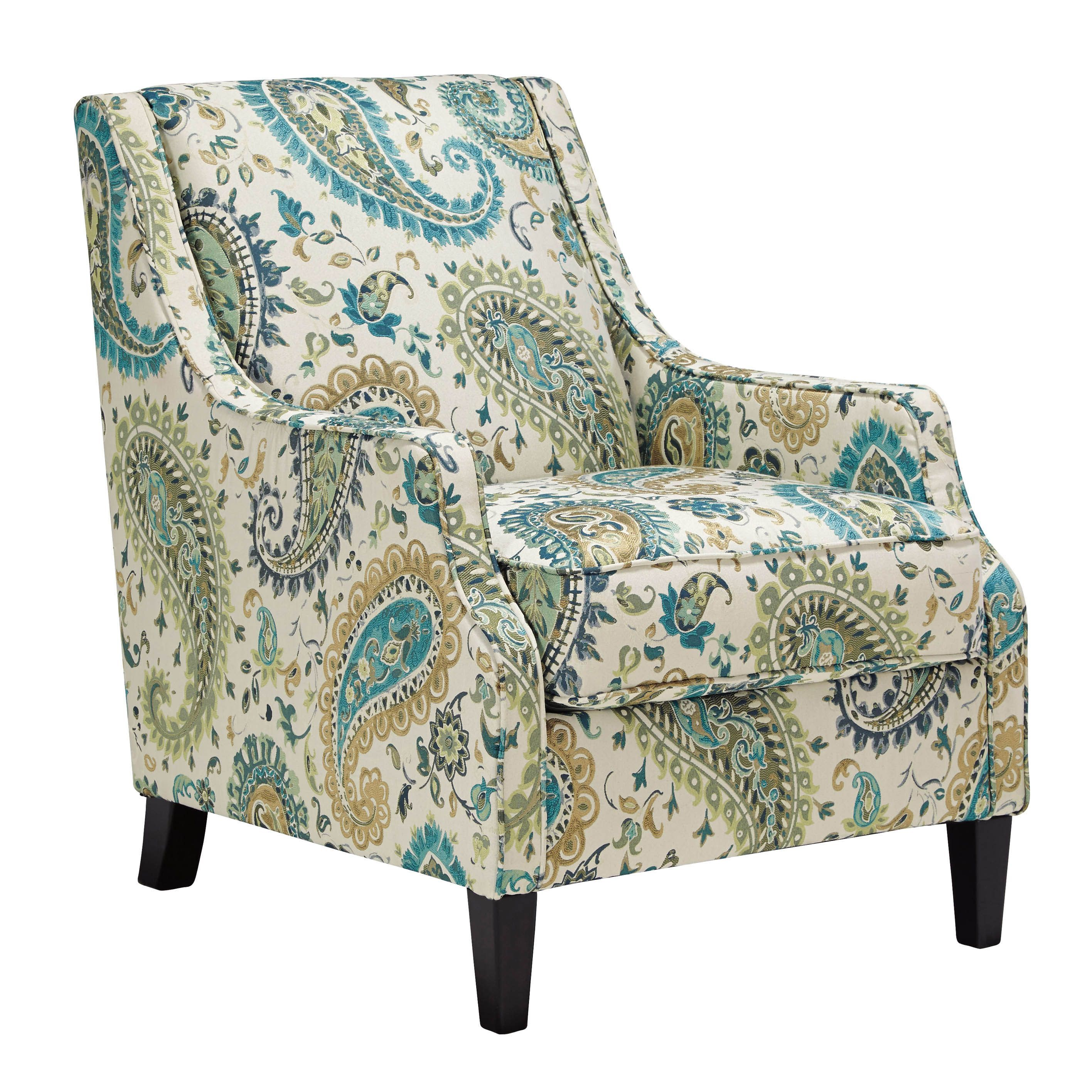 Signature Design By Ashley Lochian Jade Accent Chair (Chair), Green  (Polyester)