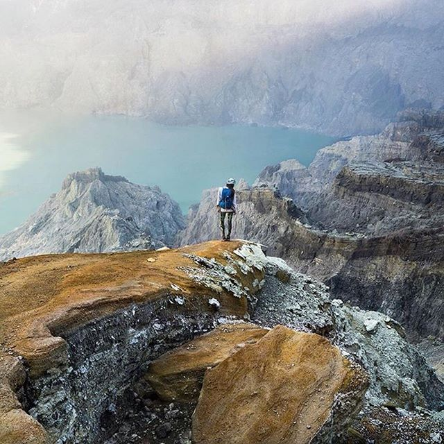 Hiking the Ijen Crater in Indonesia.  Photo by @mydetoxtravel #stayandwander