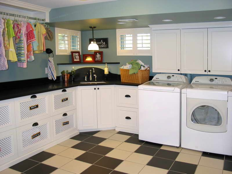 Arranging Layout For The Laundry Room Large Model With White Cabinet And Corner Sink General Ideas Inspiration