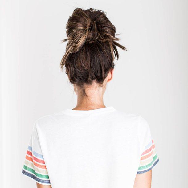 einfach 5 schnelle frisuren f r ungewaschene haare haare dutt haar ideen und halblange haare. Black Bedroom Furniture Sets. Home Design Ideas