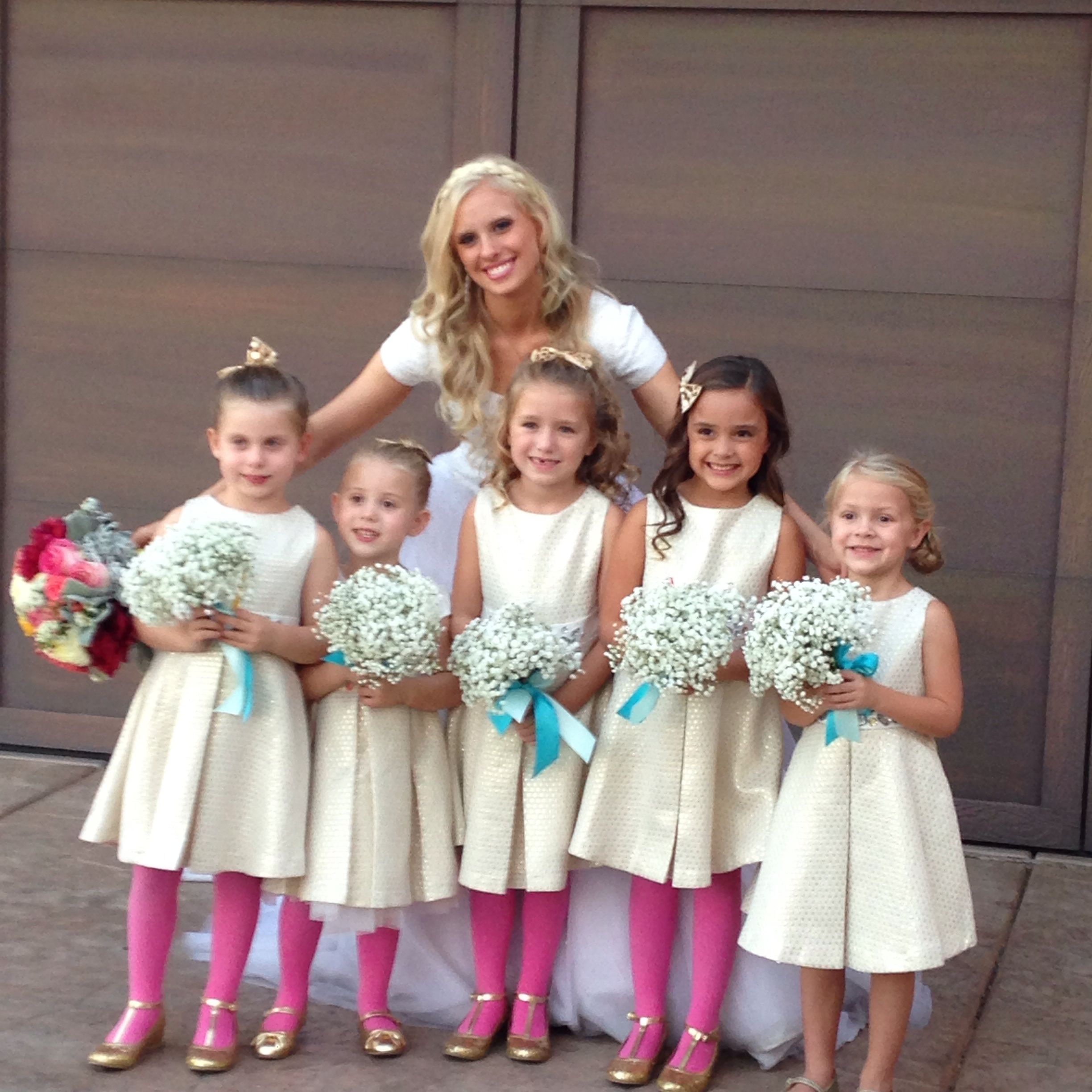 Babies Breath Bouquets For Flower Girls.