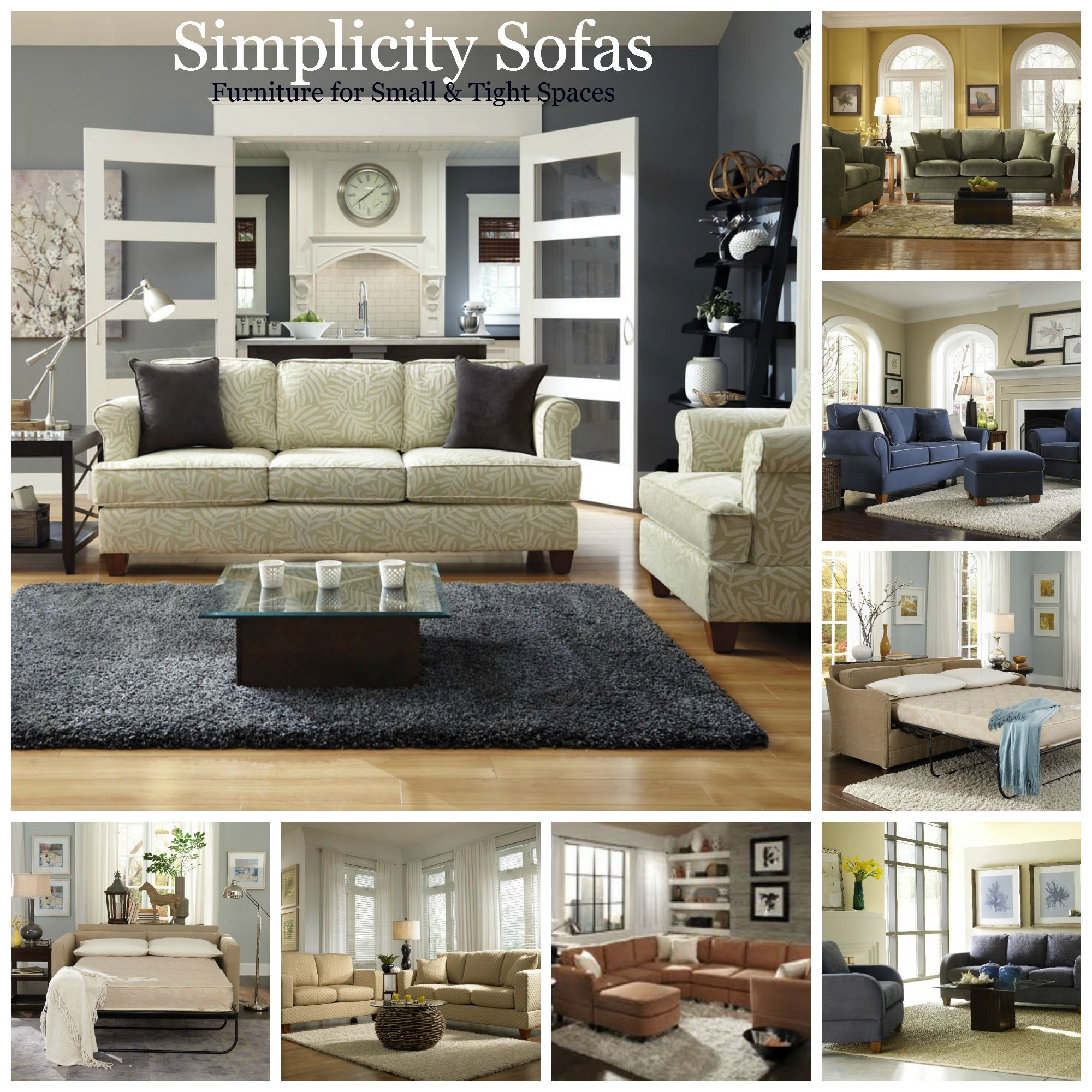 Sofas Sectionals And Sleepers For Small Spaces Amp Tight