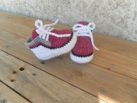 Zapatitos para bebé a crochet, talle 10 y 11 cm - Paso a paso - 1de2 ...