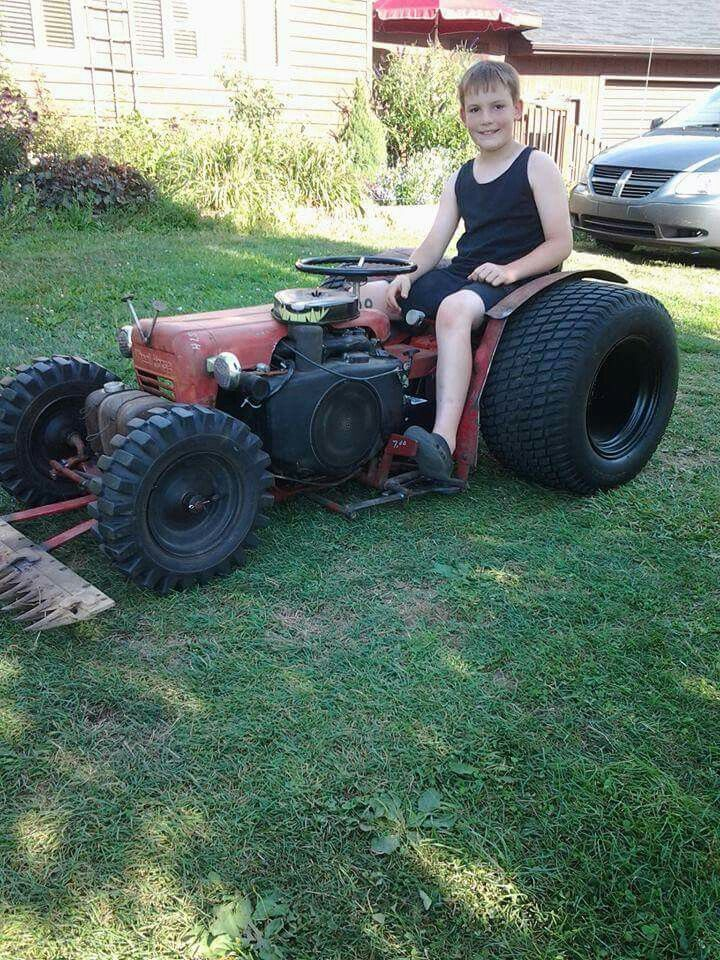 Pin By Greg On Garden Tractors Homemade Tractor Riding