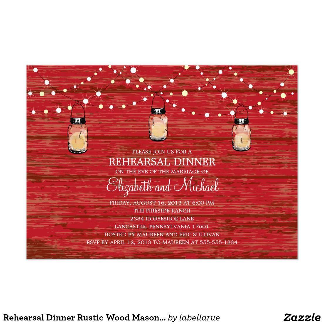 Rehearsal Dinner Rustic Wood Mason Jar and Lights   Country Wedding ...