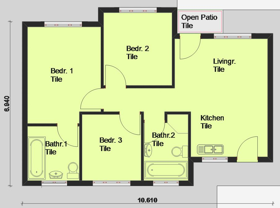 3 Bedroom House Short Drive From The Beach Reebok Garden Route Free House Plans Garage House Plans Bedroom House Plans