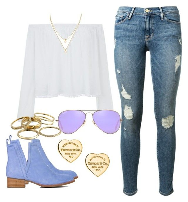 """""""SPRINGG!!11!!!!1!!!!1!!!!"""" by maggiejanexo on Polyvore featuring Kate Spade, Frame Denim, Jeffrey Campbell, Tiffany & Co., Ray-Ban and Kendra Scott"""