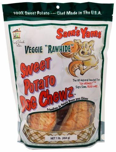 Sam S Yams Veggie Rawhide Sweet Potato Chewz 1 Lb Sweet