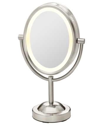 Conair Double Sided 1x 7x Magnified Oval Mirror Bedding Makeup