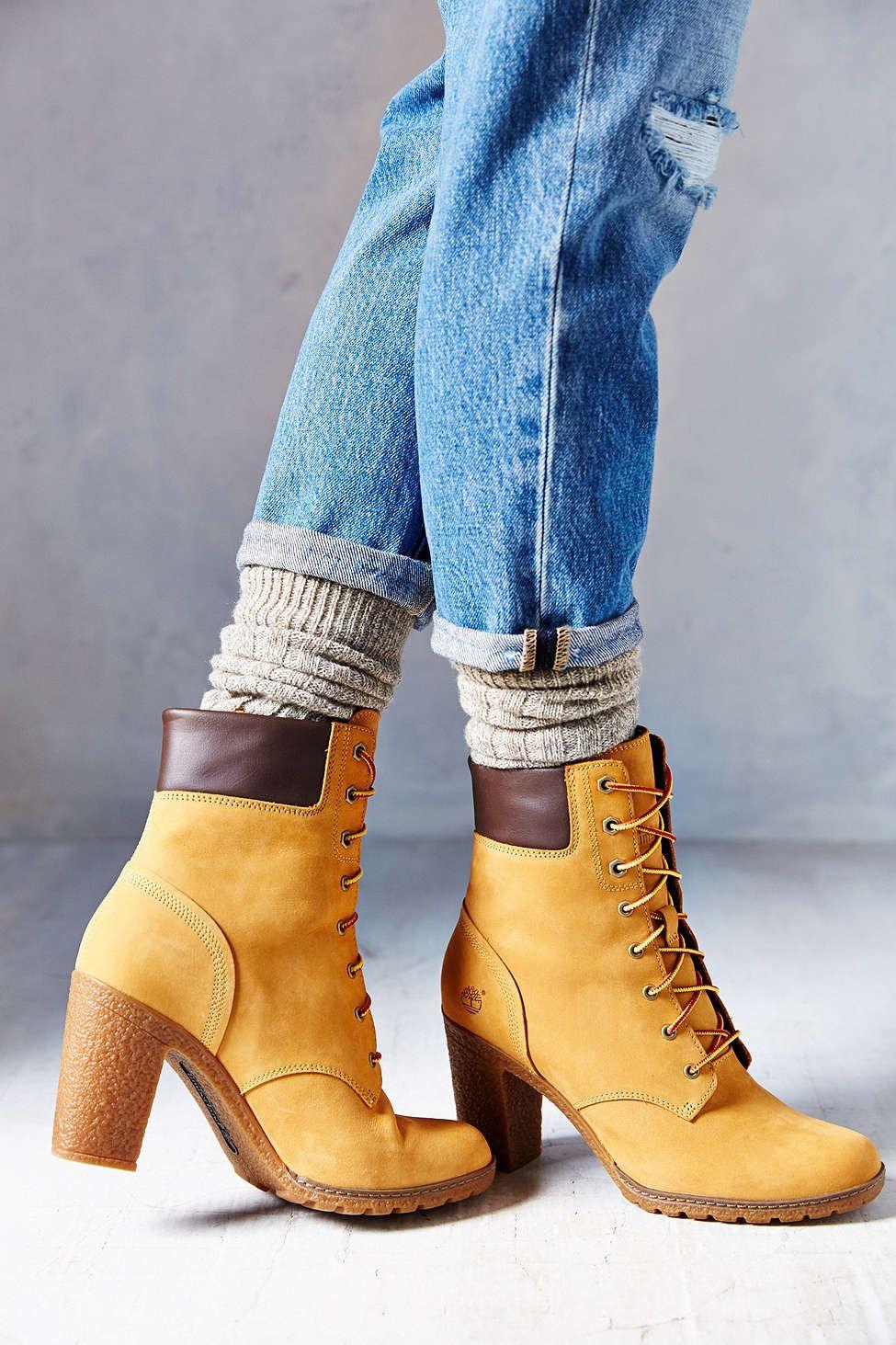 Timberland Glancy Wheat Heeled Boot | Scarpe, Timberland e