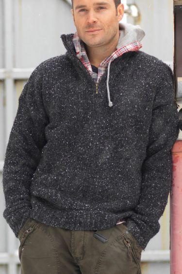 Donegal 1/4 Half Zip Irish traditional apparel wool fall winter ...