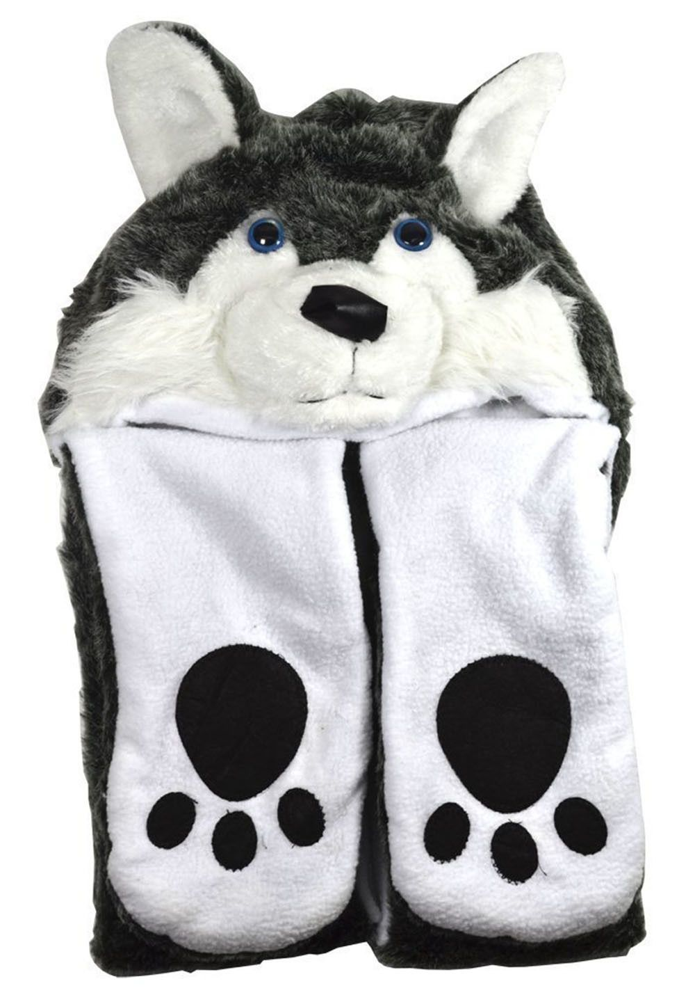60445aa12b4 Stylish plush husky dog design that is soft and comfortable to wear.  Protects your head