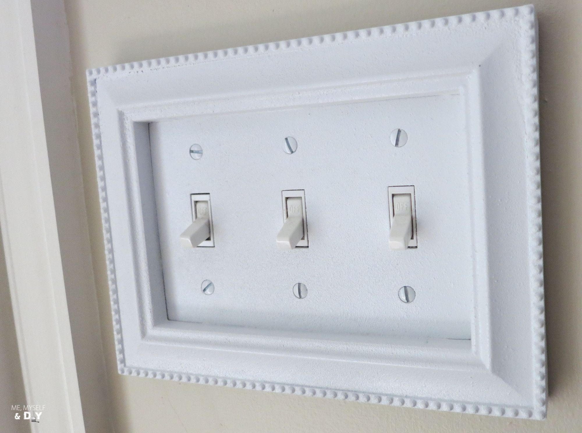 Diy Switch Plate Upgrade With Dollar Store Picture Frames