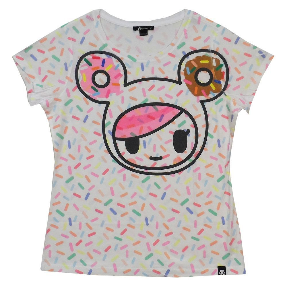 tokidoki donutella pop sprinkles allover licensed woman junior shirt s xl - Tokidoki Donutella Coloring Pages