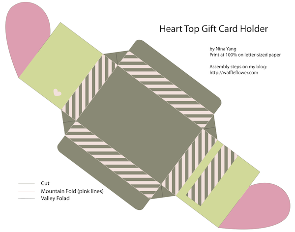 Printable Heart Top Box Template Preview Png Gift Card Holder Template Gift Box Template Valentines Gift Card