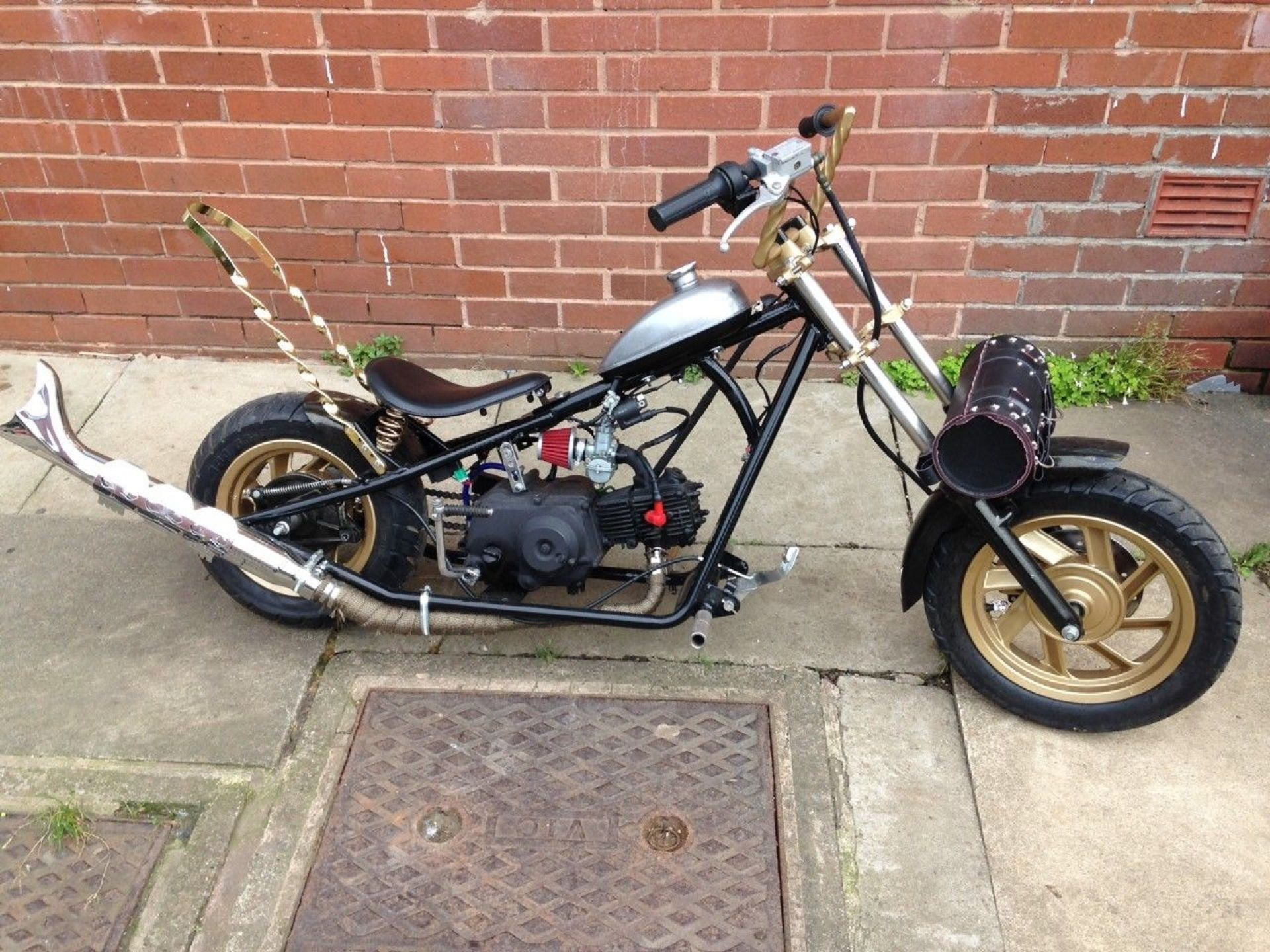 High Quality Lifan 50cc Mini Moto Chopper, Recently Auctioned On EBay. Item Location:  Dewsbury,