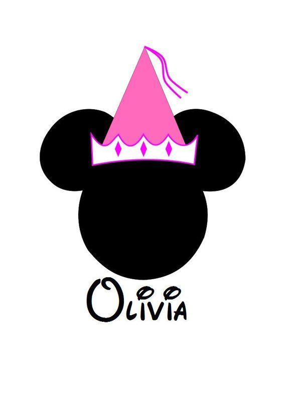 79431a1a2b4f6 Minnie Princess Hat Personalized Custom Iron on Transfer Decal(iron on  transfer