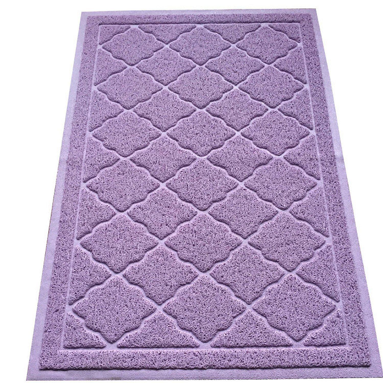 amazoncom easyology premium cat litter mat xl super size lavender