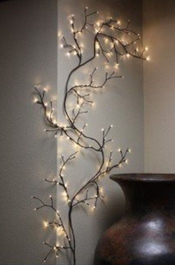 8 Ft String Lights Willow Branch Twig Tree Lighted Wall
