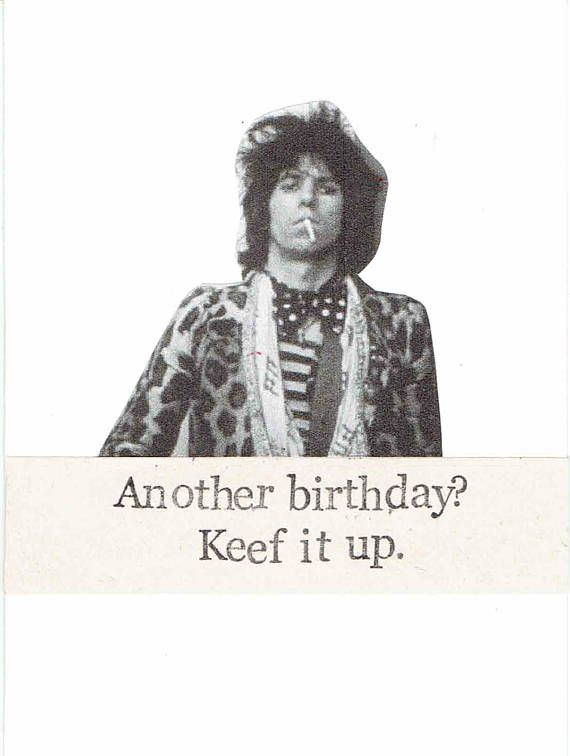 Keef It Up Keith Richards Birthday Card – Bruce Springsteen Birthday Card