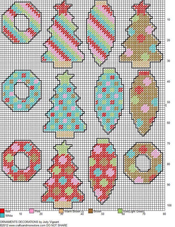 Plastic Canvas Christmas Ornament Patterns.Christmas Ornaments Plastic Canvas 742 960 Plastic