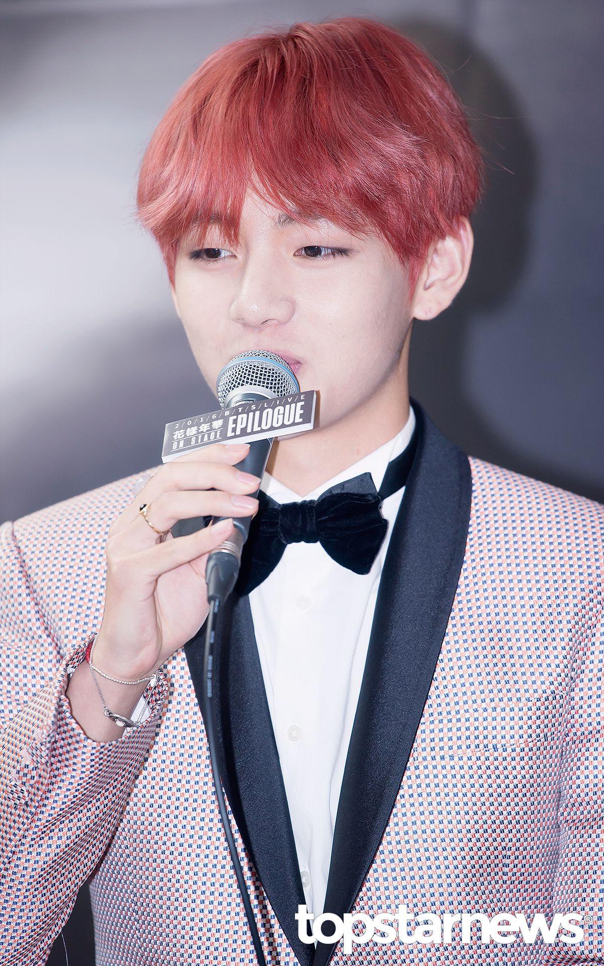 Boy hair color images taehyung red hair  hair color of bts  pinterest  bts bts bangtan