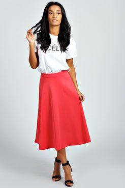 849fc368f Basic Plain Full Circle Midi Skirt | My Style... | Midi Skirt, Midi ...