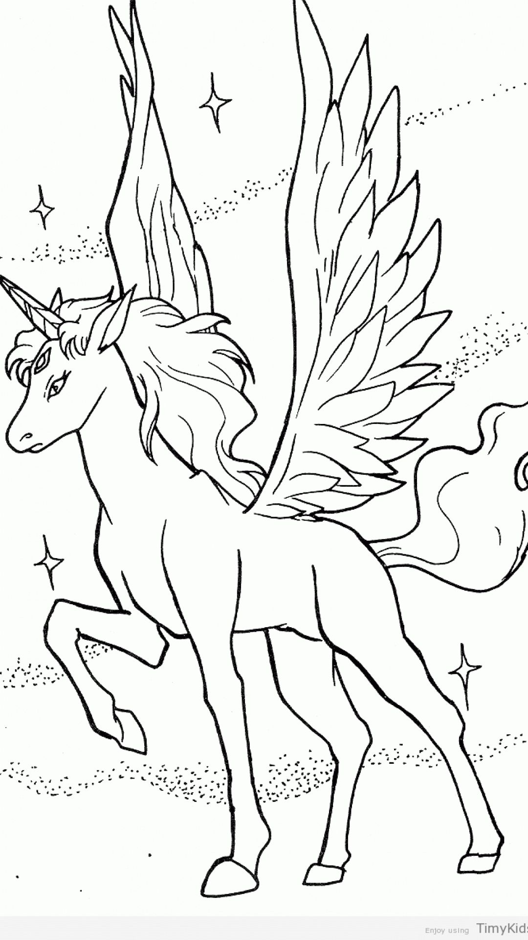 unicorn with wings coloring pages printable  kostenlose