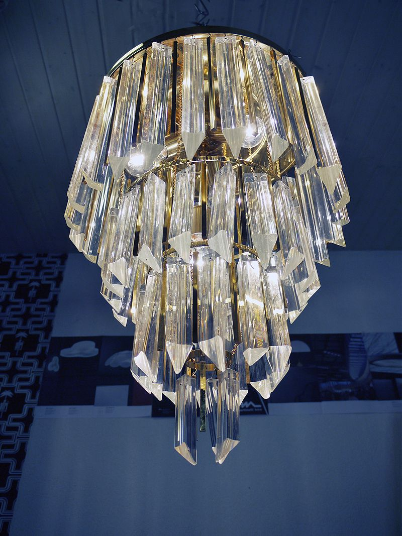 Gold plated palwa crystal prism chandelier venini camer ebay gold plated palwa crystal prism chandelier venini camer arubaitofo Choice Image