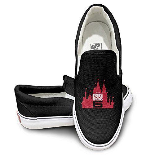 McBr Unisex Footwall Canvas Shoes Big Hero 6 BA LA LA LA LA Bay Max Travel Black -- Visit the image link more details.