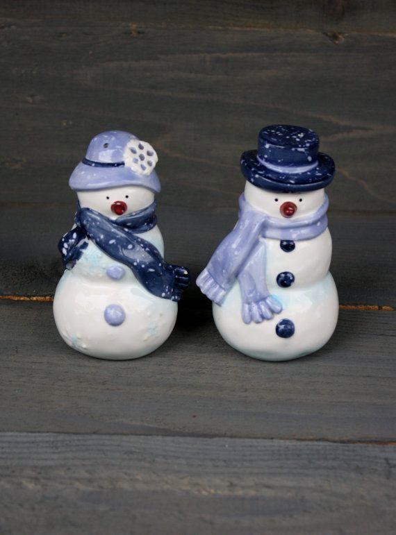 Christmas !FREE UK P/&P! Ceramic Snowmen Candle Holder