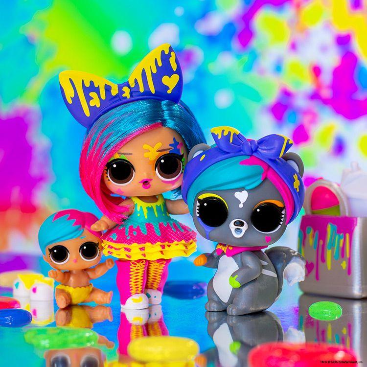 Lol Surprise Splatters Doll /& Fuzzy Eau De Pets Makeover Series Toys Doll