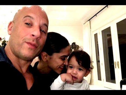 Deepika Padukone S Adorable Moment With Vin Diesel S Daughter Vin Diesel Deepika Padukone Latest Pics