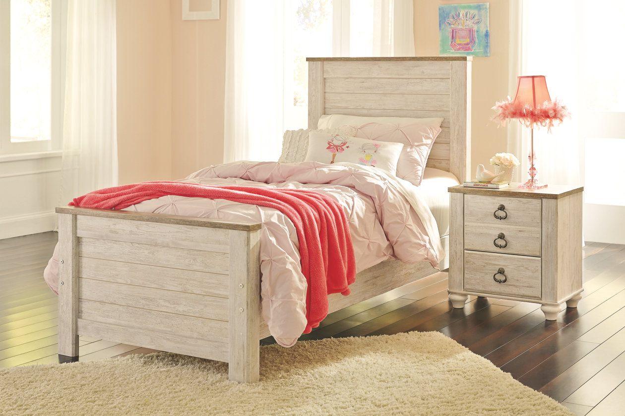 Willowton Twin Panel Bed Ashley Furniture HomeStore