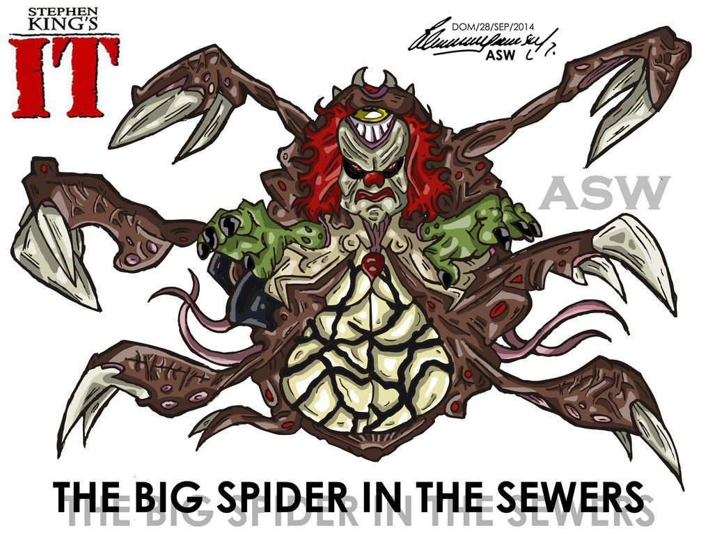 pennywise true form in the book  Pennywise Big Spider Final Form Stephen King`s IT by ...
