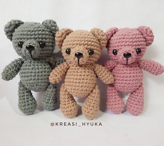 Cute Crochet Teddy Bear Patterns – Free Crochet Patterns #crochetbearpatterns