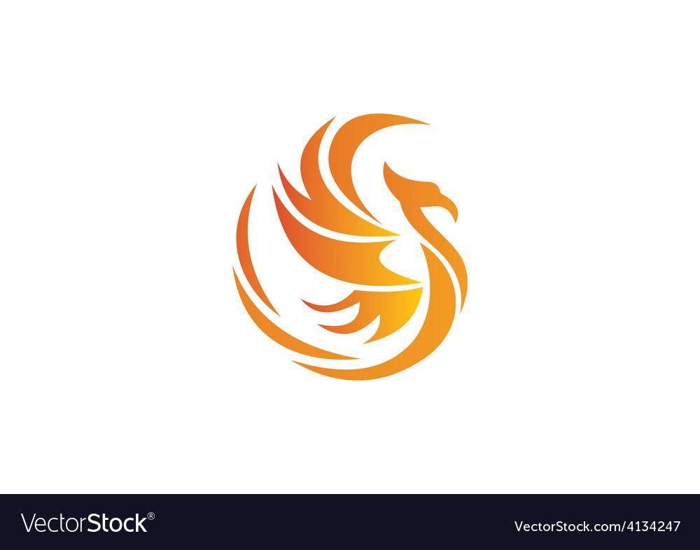 Phoenix Bird Abstract Logo Royalty Free Vector Image Sponsored Abstract Logo Phoenix Bird Ad Abstract Logo Phoenix Bird Unity Logo