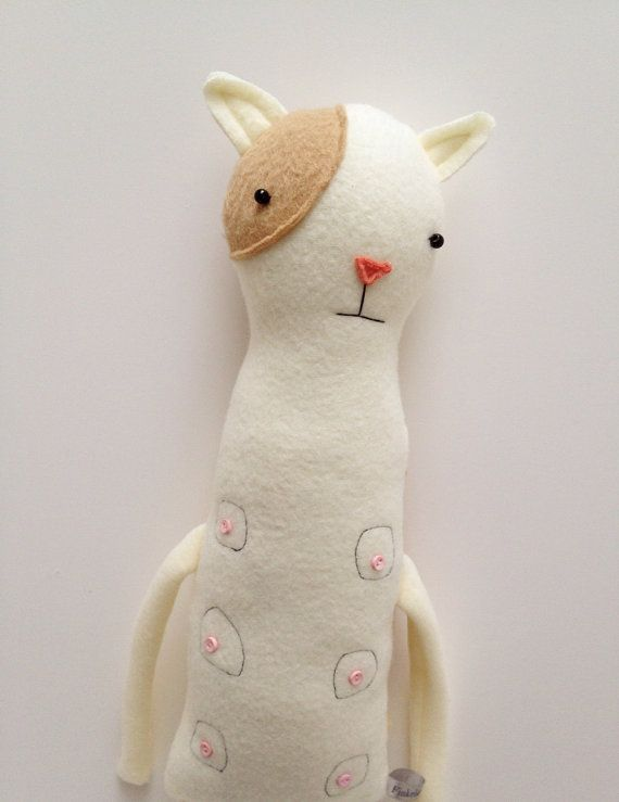 Plush Nipple Kitty Friend- Finkelstein\'s Center Handmade Creature ...
