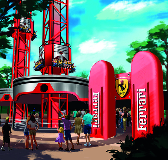Ferrari Land PortAventura Bounce Back Towers