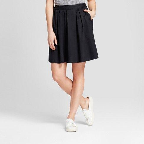 79a6f8bbca Women's Poplin A Line Skirt - A New Day™ Black : Target | skirts | A ...