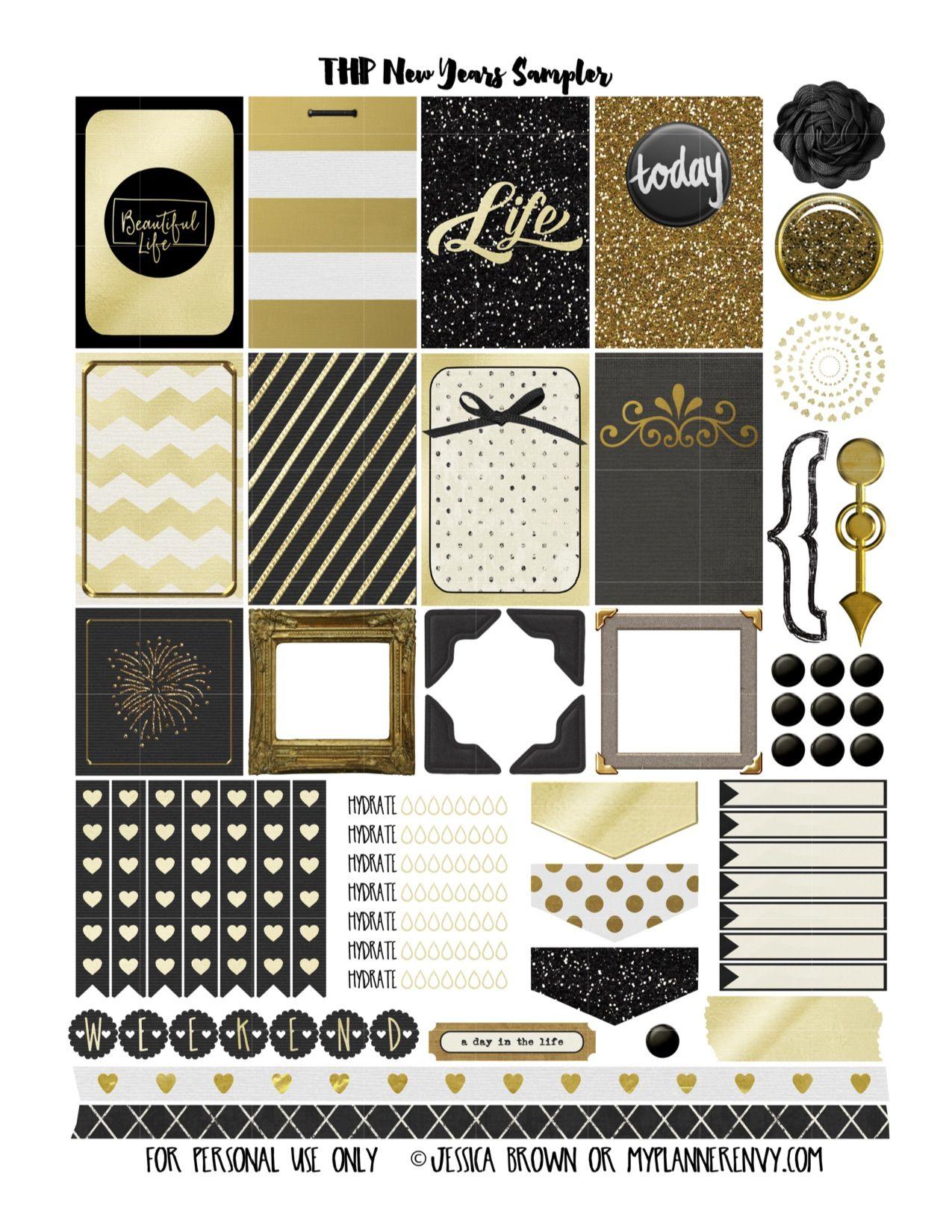 THP New Years Sampler | Happy Planner | Pinterest | Motive, Karten ...