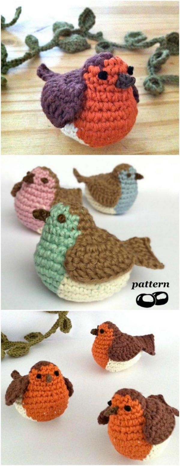 Crochet Bird Patterns Easy DIY Video #crochetanimals