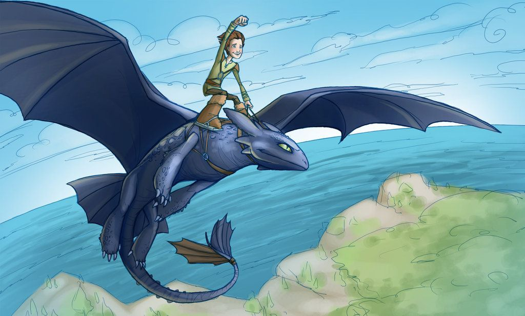 toothless and hiccup How to Train Your Dragon Fan Art