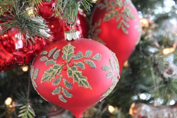 Beaded Holly Glass Christmas Ornament christmas Pinterest