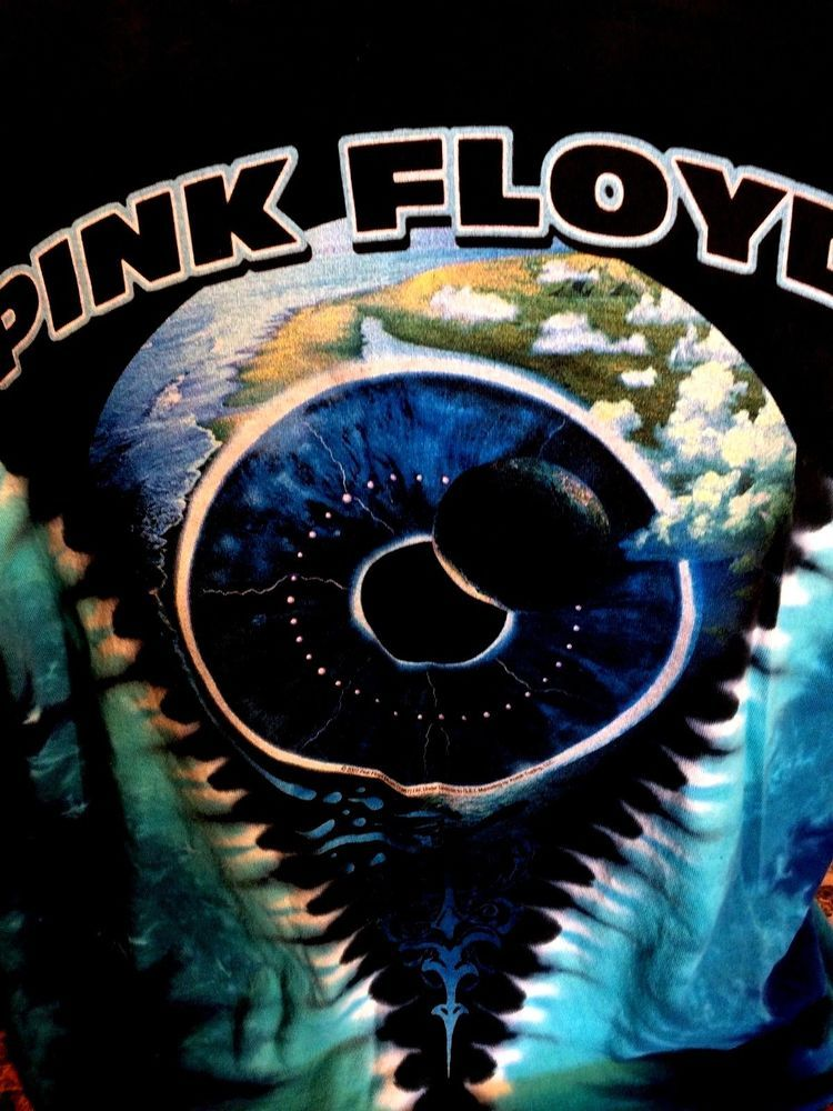 Pink Floyd Pulse V 2 Sided Tie Dye T Shirt sz Large Gilmour Waters ...