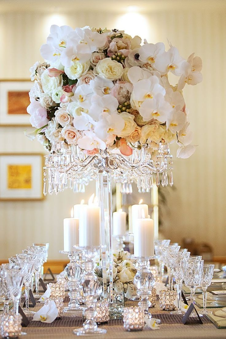 Trending Stunning White Orchid centerpiece in wedding centrepieces ...