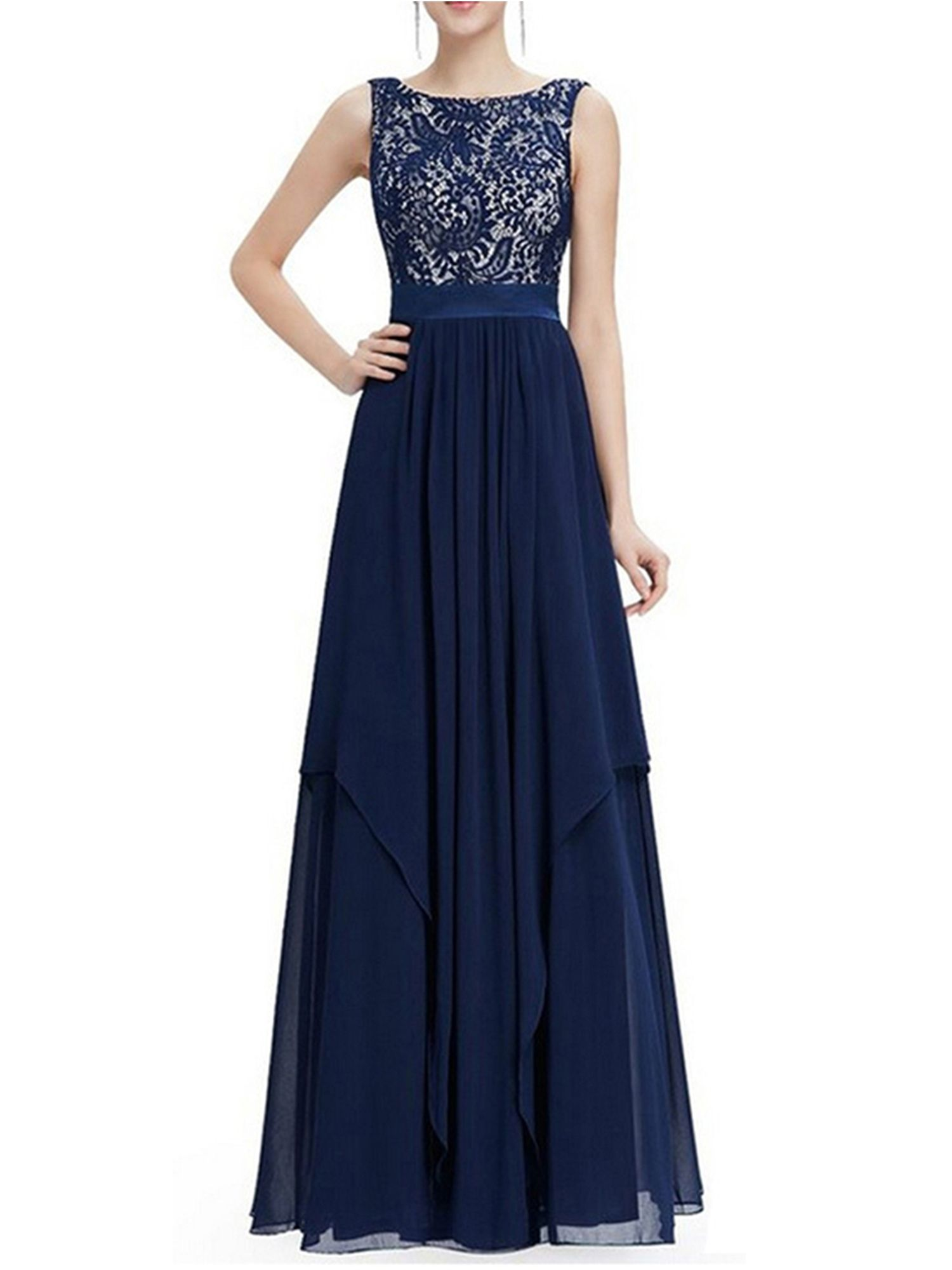 Women Long Maxi Chiffon Evening Formal Party Cocktail Dress Bridesmaid Prom Gown