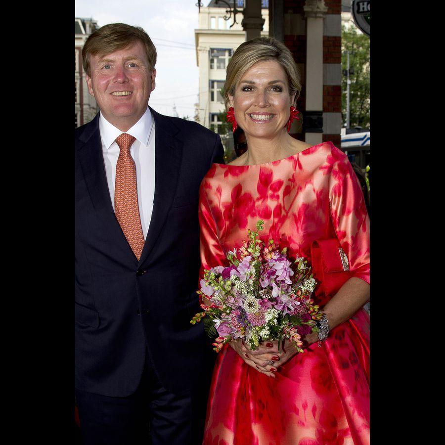 La reine Maxima et le roi Willem-Alexander des Pays-Bas à Amsterdam, le 4 juin 2016