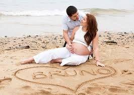 Resultado de imagen de fotos embarazadas playa